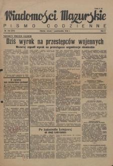 Wiadomości Mazurskie : pismo codzienne. 1946 (R. 2), nr 226 (237)