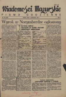 Wiadomości Mazurskie : pismo codzienne. 1946 (R. 2), nr 227 (238)