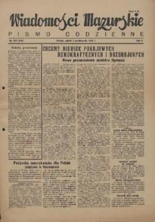 Wiadomości Mazurskie : pismo codzienne. 1946 (R. 2), nr 229 (240)