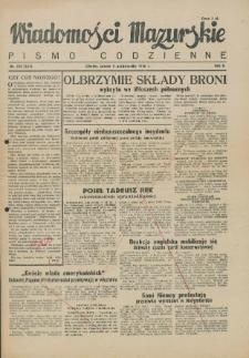Wiadomości Mazurskie : pismo codzienne. 1946 (R. 2), nr 230 (241)