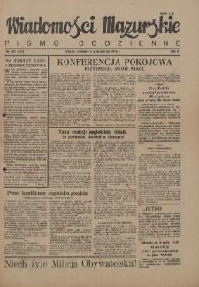 Wiadomości Mazurskie : pismo codzienne. 1946 (R. 2), nr 231 (242)