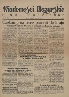 Wiadomości Mazurskie : pismo codzienne. 1946 (R. 2), nr 233 (244)