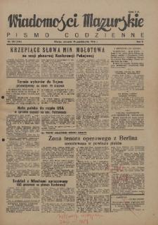 Wiadomości Mazurskie : pismo codzienne. 1946 (R. 2), nr 234 (245)