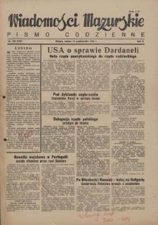 Wiadomości Mazurskie : pismo codzienne. 1946 (R. 2), nr 236 (247)