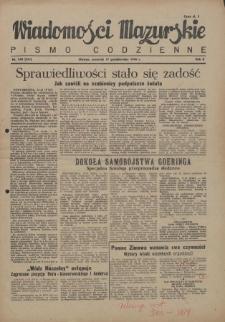 Wiadomości Mazurskie : pismo codzienne. 1946 (R. 2), nr 240 (251)