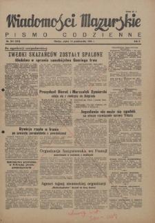 Wiadomości Mazurskie : pismo codzienne. 1946 (R. 2), nr 241 (252)