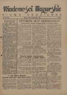 Wiadomości Mazurskie : pismo codzienne. 1946 (R. 2), nr 246 (256)