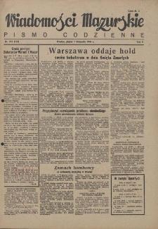 Wiadomości Mazurskie : pismo codzienne. 1946 (R. 2), nr 253 (264)