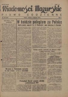 Wiadomości Mazurskie : pismo codzienne. 1946 (R. 2), nr 254 (265)