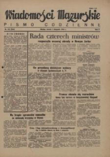 Wiadomości Mazurskie : pismo codzienne. 1946 (R. 2), nr 255 (266)