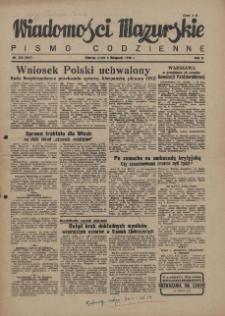 Wiadomości Mazurskie : pismo codzienne. 1946 (R. 2), nr 256 (267)