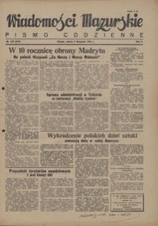Wiadomości Mazurskie : pismo codzienne. 1946 (R. 2), nr 259 (270)