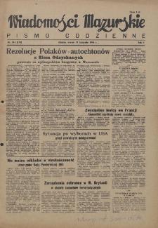 Wiadomości Mazurskie : pismo codzienne. 1946 (R. 2), nr 261 (272)
