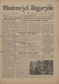 Wiadomości Mazurskie : pismo codzienne. 1946 (R. 2), nr 267 (278)