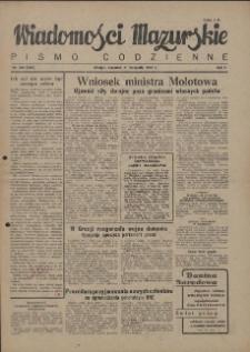 Wiadomości Mazurskie : pismo codzienne. 1946 (R. 2), nr 269 (280)