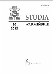 Studia Warmińskie T. 50 (2013) - cały numer