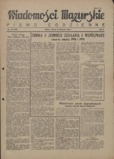 Wiadomości Mazurskie : pismo codzienne. 1946 (R. 2), nr 277 (288)