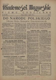 Wiadomości Mazurskie : pismo codzienne. 1946 (R. 2), nr 278 (289)