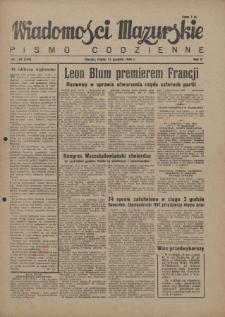 Wiadomości Mazurskie : pismo codzienne. 1946 (R. 2), nr 288 (299)