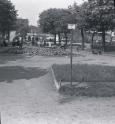 Prace przy fontannie na Placu Wyzwolenia w Mrągowie