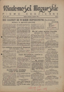 Wiadomości Mazurskie : pismo codzienne. 1946 (R. 2), nr 293 (304)