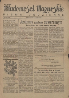 Wiadomości Mazurskie : pismo codzienne. 1946 (R. 2), nr 297 (308)