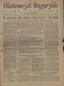 Wiadomości Mazurskie : pismo codzienne. 1946 (R. 2), nr 300 (311)