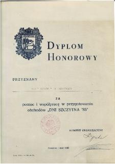 Dyplom honorowy