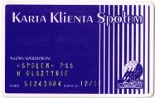 Karta klienta Spółdzielni Społem PSS w Olsztynie