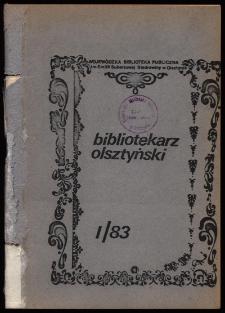 Bibliotekarz Olsztyński, 1983, nr 1