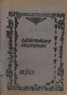 Bibliotekarz Olsztyński, 1983, nr 3