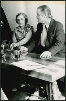[Dyrektorzy bibliotek] Wacław Gołowicz i Gabriela Piwowarska