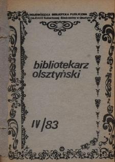 Bibliotekarz Olsztyński, 1983, nr 4