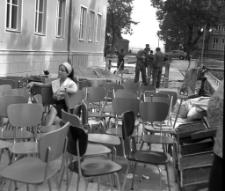 [Przygotowania do otwarcia Powiatowej i Miejskiej Biblioteki Publicznej w Mrągowie]