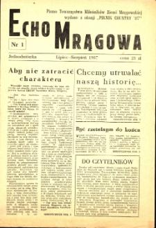 Echo Mrągowa, 1985, nr 1