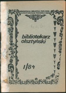 Bibliotekarz Olsztyński, 1984, nr 1