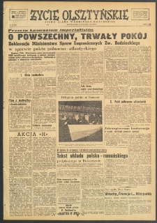 Życie Olsztyńskie : pismo ziemi warmińsko-mazurskiej, 1949, nr 30