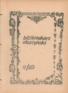Bibliotekarz Olsztyński, 1985, nr 2