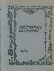 Bibliotekarz Olsztyński, 1986, nr 3