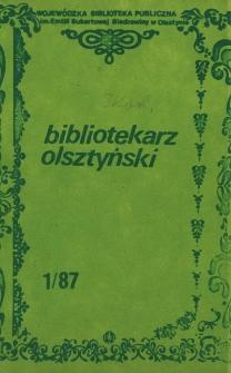 Bibliotekarz Olsztyński, 1987, nr 1