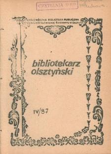 Bibliotekarz Olsztyński, 1987, nr 4