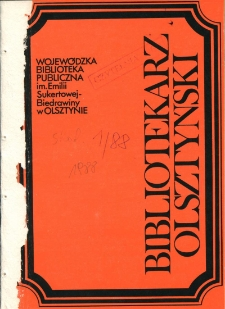 Bibliotekarz Olsztyński, 1988, nr 1