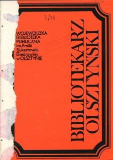 Bibliotekarz Olsztyński, 1988, nr 3