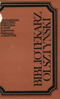Bibliotekarz Olsztyński, 1989, nr 3