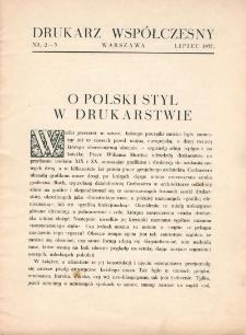 Drukarz Współczesny, 1936, nr 3-4