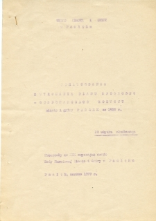 Sprawozdanie z wykonania planu społeczno - gospodarczego rozwoju miasta i gminy Pasłek za 1976 r.