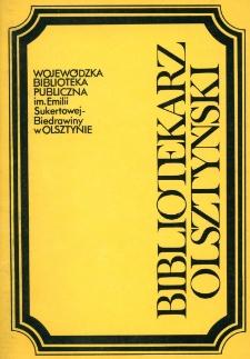 Bibliotekarz Olsztyński, 1991, nr 1-2