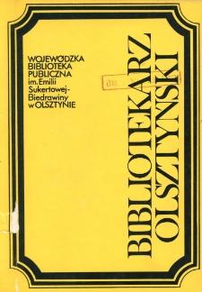 Bibliotekarz Olsztyński, 1991, nr 3-4