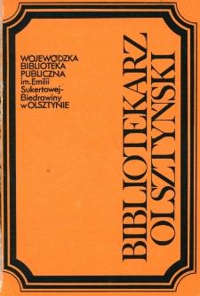 Bibliotekarz Olsztyński, 1992, nr 1-2
