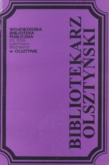 Bibliotekarz Olsztyński, 1994, nr 1-2